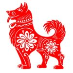 79630721 - dog, chinese zodiac symbol of 2018 year, isolated on white background. vector illustration.